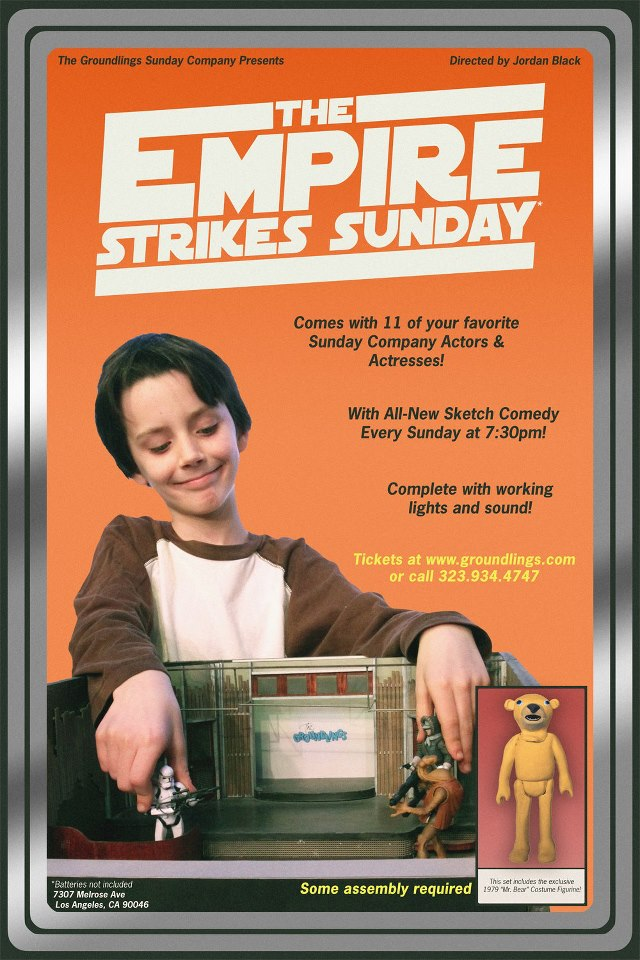 """The Groundlings Sunday Company show is now officially """"The Empire Strikes Sunday""""!"""