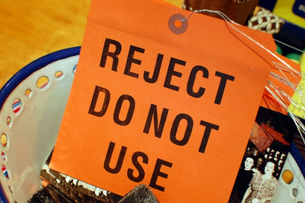 reject do not use